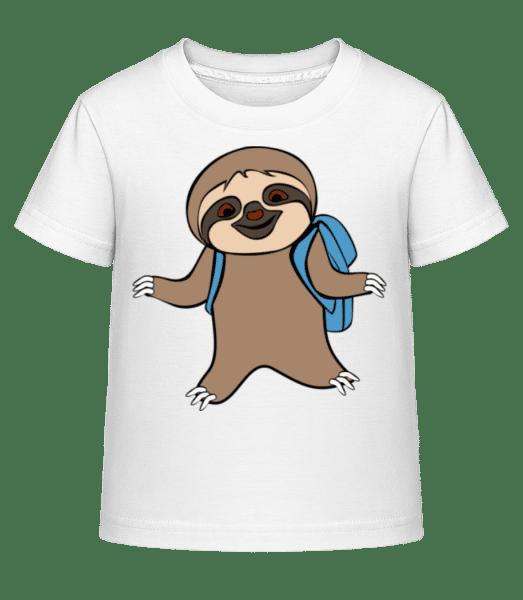 Cute Sloth With Bag - Kid's Shirtinator T-Shirt - White - Vorn