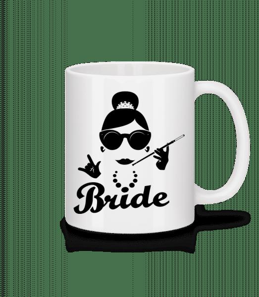 Bride - Mug en céramique blanc - Blanc - Devant