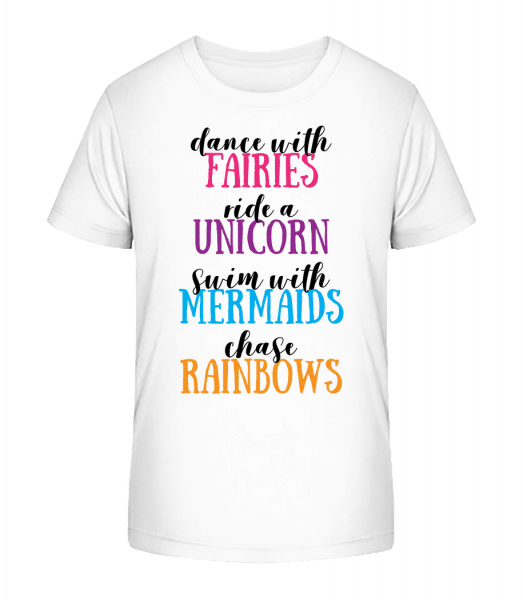 Fairies Unicorns Mermaids And Rainbows Activities - Kid's Premium Bio T-Shirt - White - Vorn