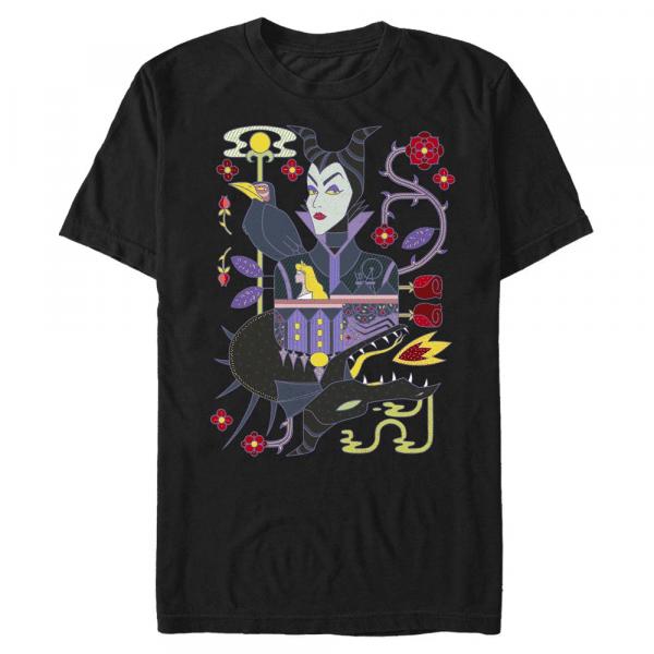 Dual maleficient Maleficent - Disney Sleeping Beauty - Men's T-Shirt - Black - Front