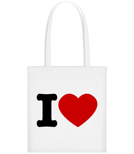 I Love - Carrier Bag - White - Vorn