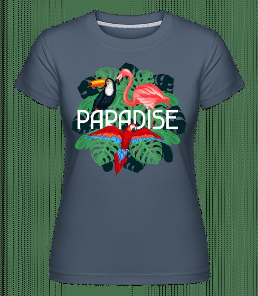 Paradise Icon -  Shirtinator Women's T-Shirt - Denim - Vorn