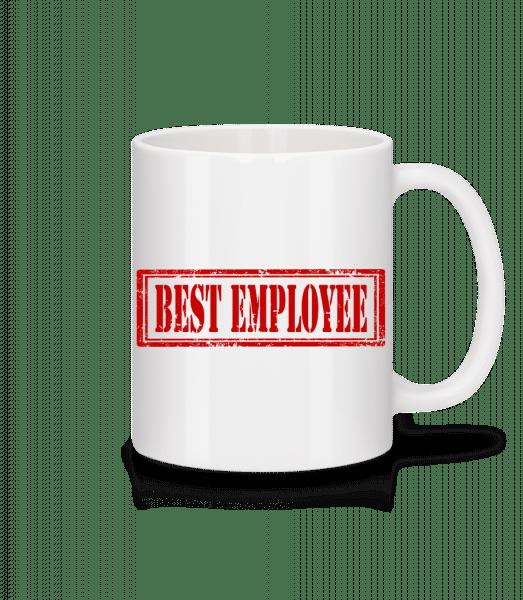 Najlepší zamestnanec Sign - Keramický hrnček - Biela - Predné