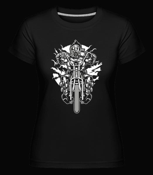 Gasmask Chopper -  Shirtinator Women's T-Shirt - Black - Vorn