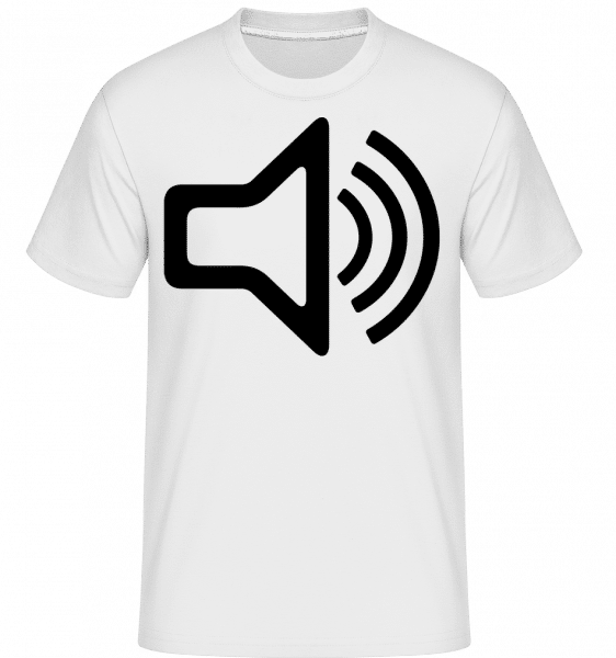 Speaker icon -  Shirtinator Men's T-Shirt - White - Vorn