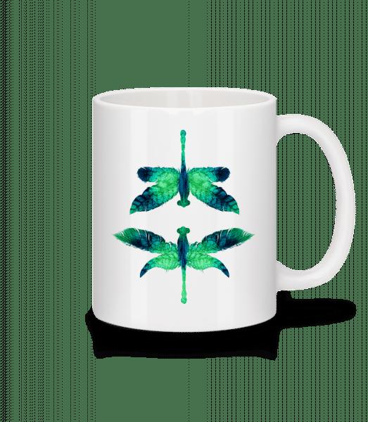 Leaf Dragonfly - Mug - White - Vorn