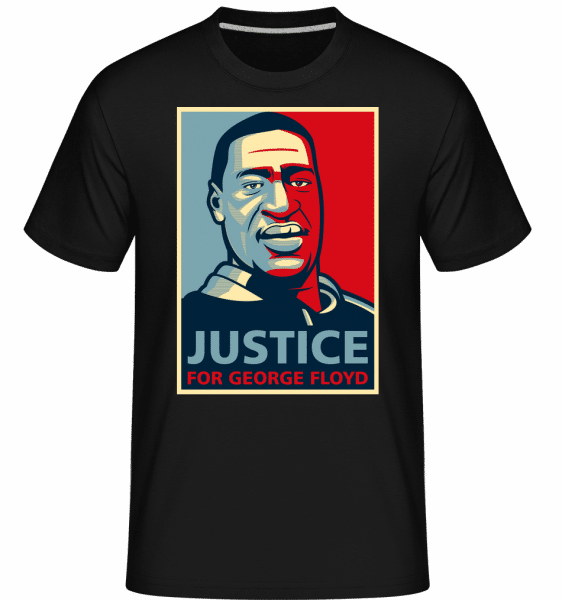 Justice For George Floyd -  Shirtinator Men's T-Shirt - Black - Front