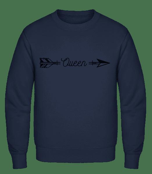 Queen Arrow - Classic Set-In Sweatshirt - Navy - Vorn