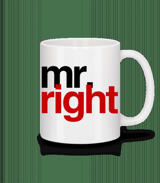 Mr. Right Logo - Keramický hrnek - Bílá - Napřed