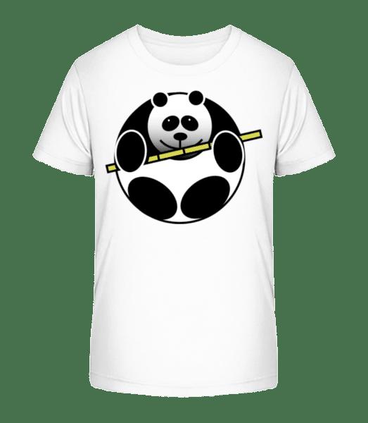 Panda Comic - Kinder Premium Bio T-Shirt - Weiß - Vorn