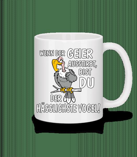 Wenn Der Geier Ausstirbt - Tasse - Weiß - Vorn