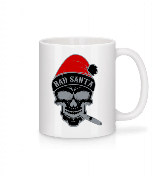 Bad Santa Skull - Mug - White - Vorn