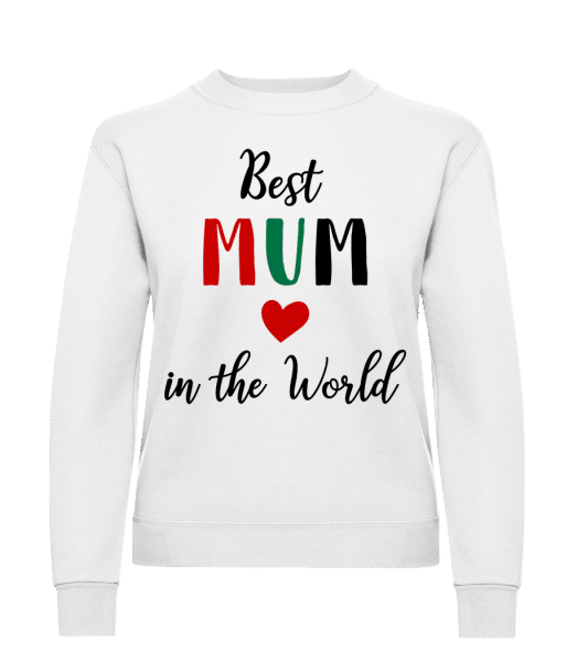 Best Mum In The World - Women's Sweatshirt - White - Vorn