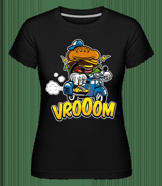 Burger Scooter - Shirtinator Frauen T-Shirt - Schwarz - Vorn