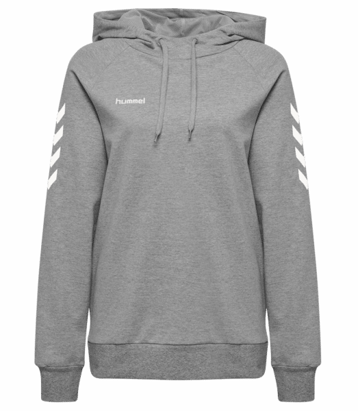 Hummel Go Cotton Hoodie Women - Heather grey - Front