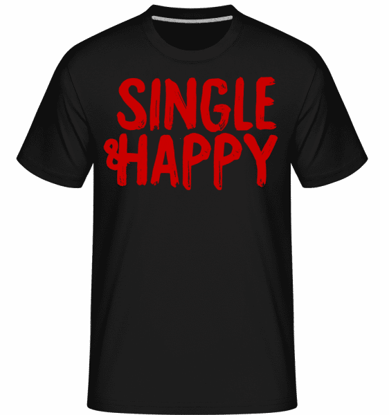 Single & Happy -  Shirtinator Men's T-Shirt - Black - Vorn