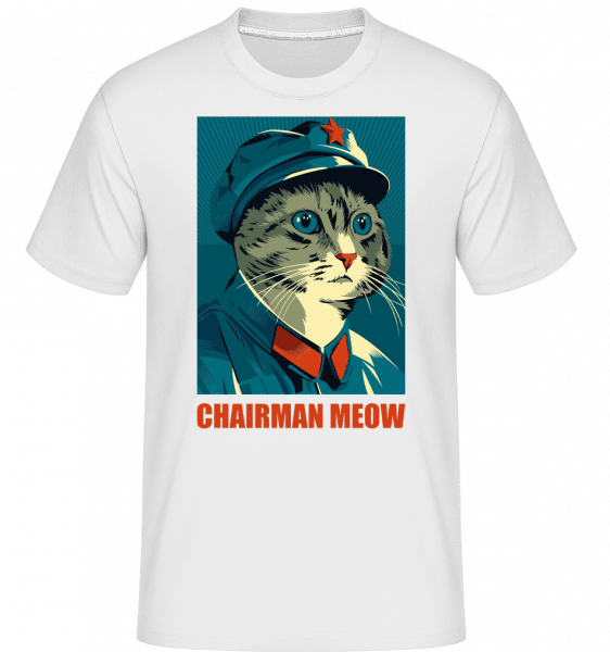 Chairman Meow -  Shirtinator Men's T-Shirt - White - Vorn