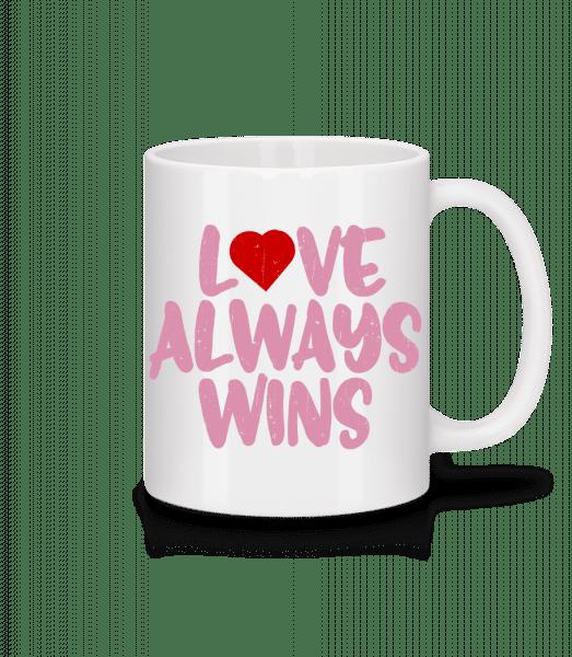 Love Always Wins - Mug - White - Vorn