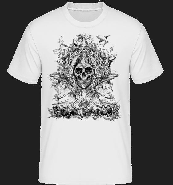 Voda God Of Death -  Shirtinator tričko pro pány - Bílá - Napřed