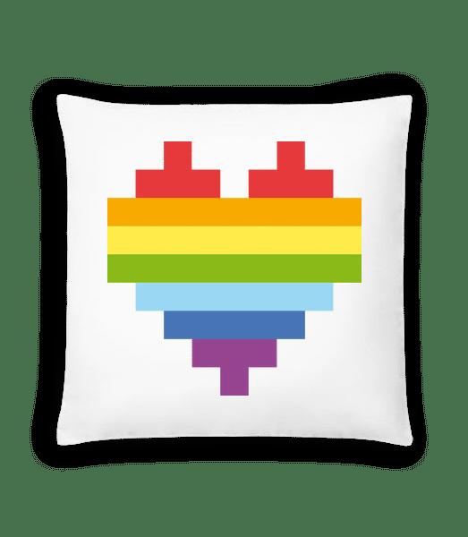 Rainbow Heart - Cushion - White - Vorn