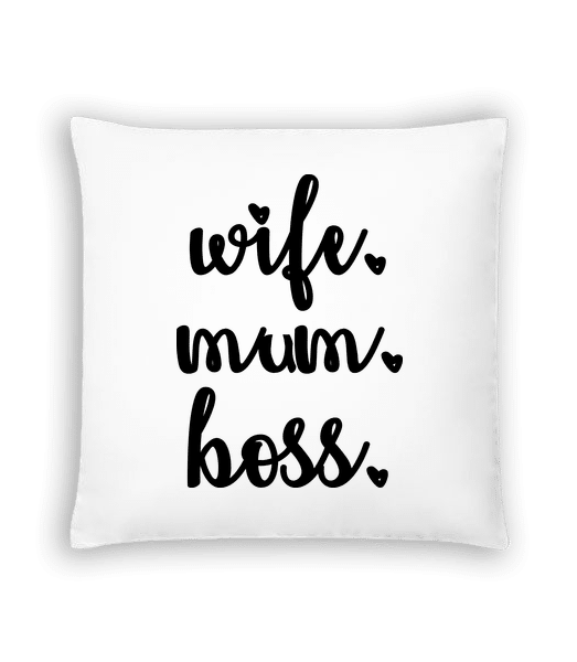 Wife Mum Boss - Cushion - White - Vorn