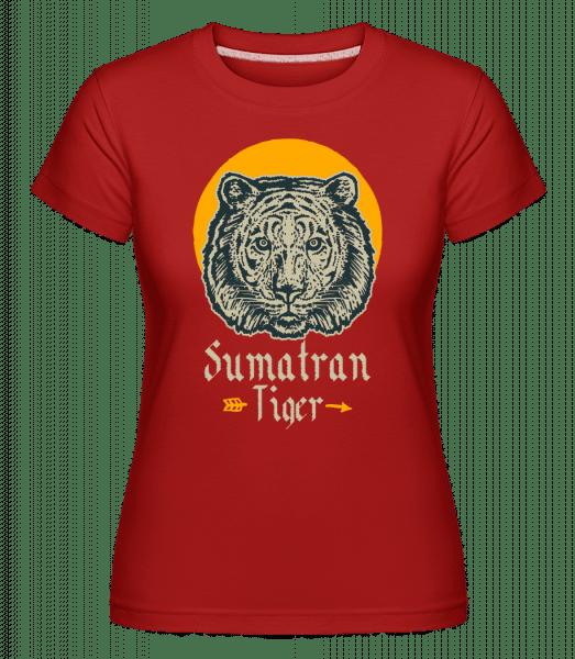 Sumatran Tiger -  Shirtinator Women's T-Shirt - Red - Vorn