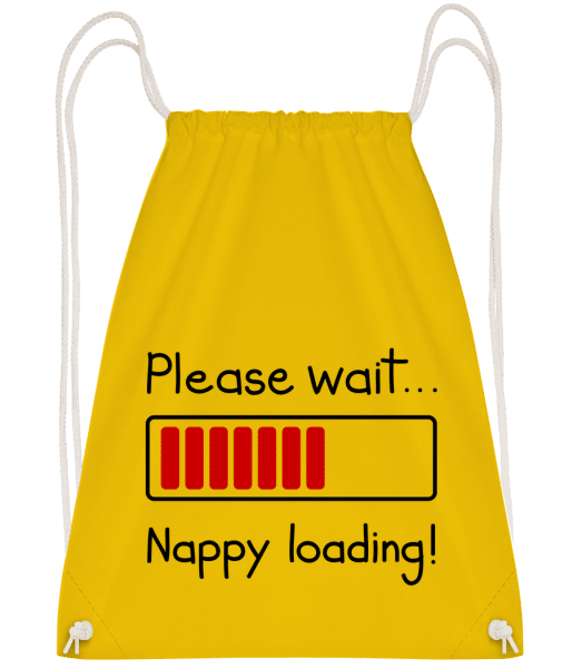 Nappy Loading! - Drawstring Backpack - Yellow - Vorn