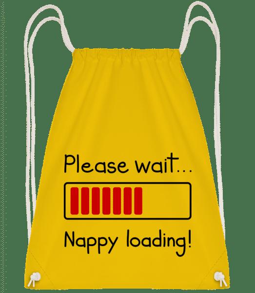 Nappy Loading! - Drawstring batoh so šnúrkami - Žltá - Predné