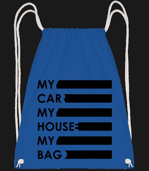 My Car, My House, My Bag - Gym bag - Royal blue - Vorn