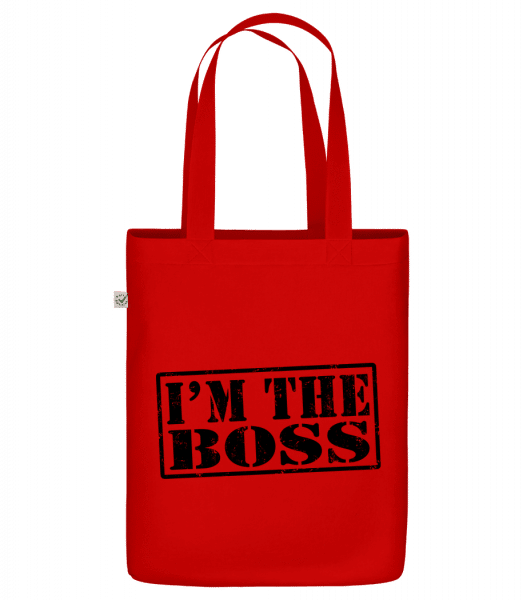 """I'm The Boss - Organic """"Earth Positive"""" tote bag - Red - Vorn"""