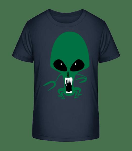 Alien Octopus - Kid's Premium Bio T-Shirt - Navy - Front