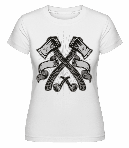 Axes -  Shirtinator Women's T-Shirt - White - Vorn