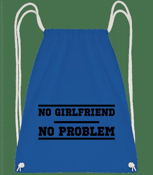 No Girlfriend No Problem - Drawstring Backpack - Royal blue - Vorn