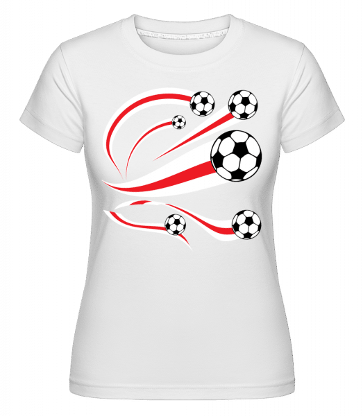 England Fahnen Fußball - Shirtinator Frauen T-Shirt - Weiß - Vorn