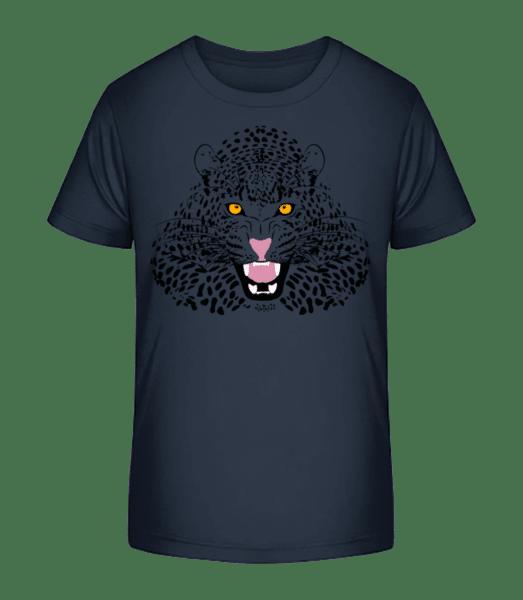 Leopard - Kid's Premium Bio T-Shirt - Navy - Vorn