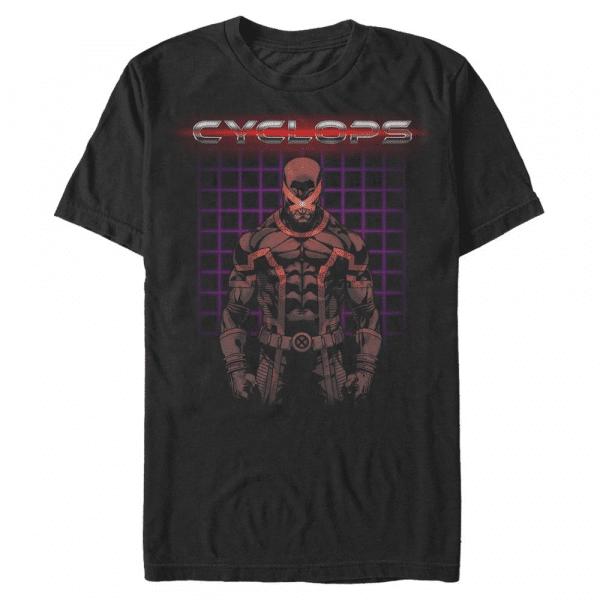 Retro Clops Cyclops - Marvel X-Men - Men's T-Shirt - Black - Front