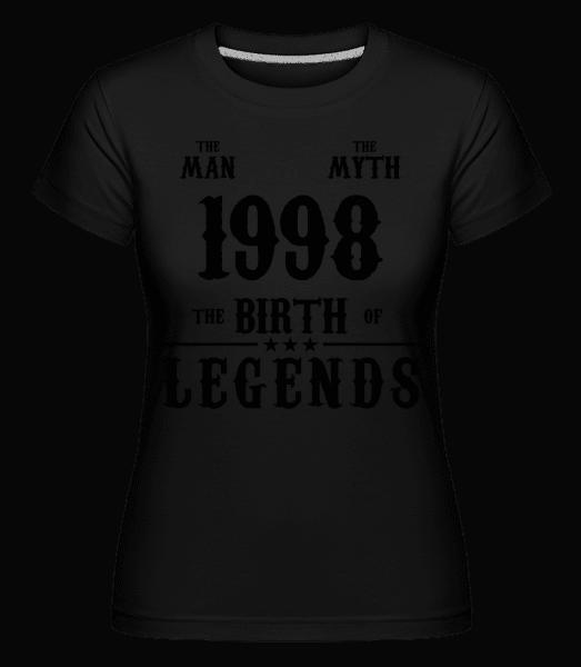 mýtus 1998 -  Shirtinator tričko pre dámy - Čierna - Predné