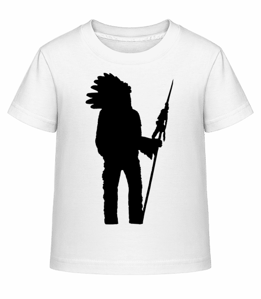 Indian Silhouette - Kid's Shirtinator T-Shirt - White - Front