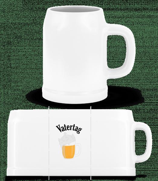 Vatertag Bier Schaumkrone - Bierkrug - Weiß - Vorn