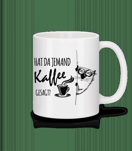Kaffee Katze - Tasse - Weiß - Vorn