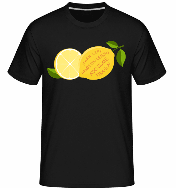 Lemon and Tequila -  Shirtinator Men's T-Shirt - Black - Vorn