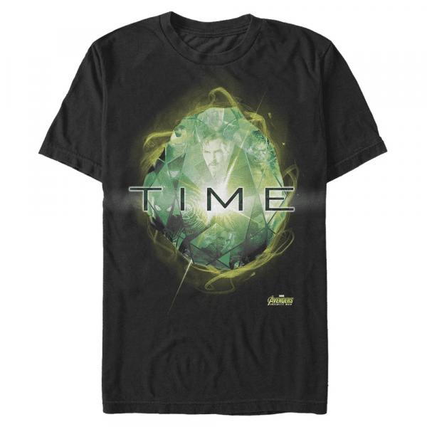 Time Stone Infinity Stones - Marvel Avengers Infinity War - Men's T-Shirt - Black - Front