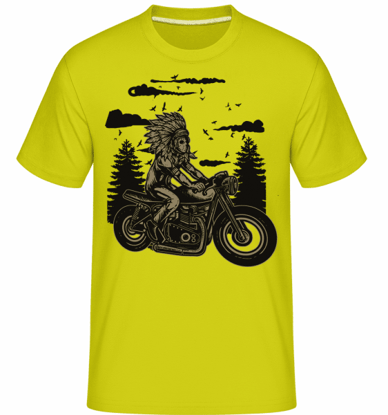 Indian Chief Rider -  Shirtinator Men's T-Shirt - Apple green - Vorn