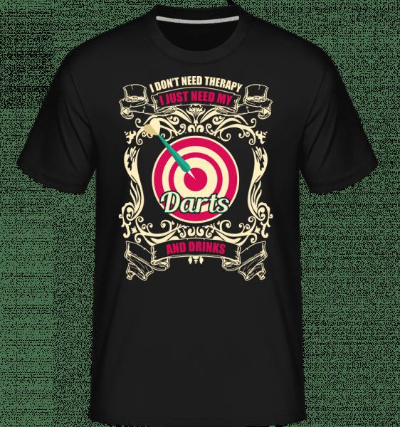 Darts And Drinks -  Shirtinator Men's T-Shirt - Black - Vorn