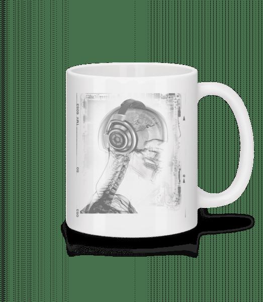 Skelett Musik - Tasse - Weiß - Vorn