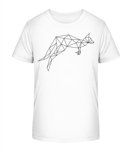 polygón Kangaroo - Detské Premium Bio tričko - Biela - Predné