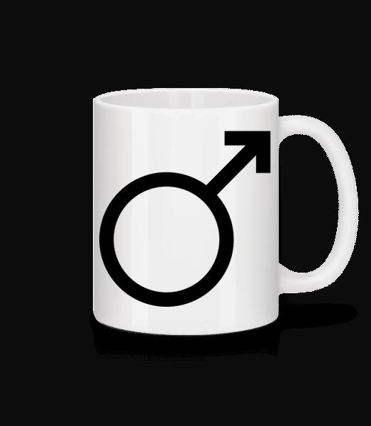 Masculin Symbol - Mug en céramique blanc - Blanc - Devant