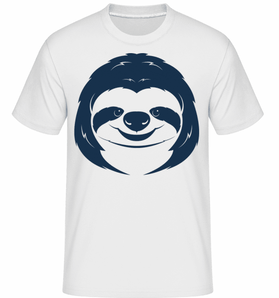Cute Sloth Face -  Shirtinator Men's T-Shirt - White - Vorn