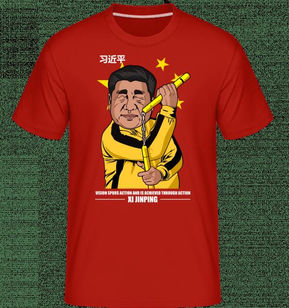 Xi Jinping Bruce Lee -  Shirtinator Men's T-Shirt - Red - Vorn