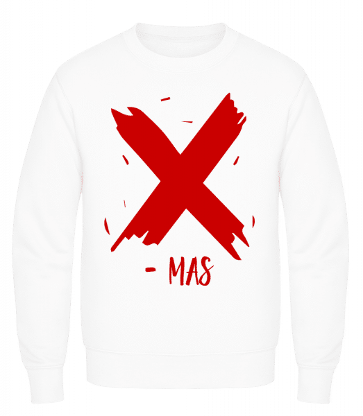 X - MAS - Men's Sweatshirt AWDis - White - Vorn